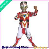 COD BAYAR DITEMPAT Baju Anak Kostum Topeng Superhero Ultraman Go Cospl