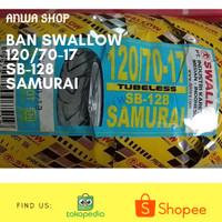ban luar belakang VIXION,R15,BYSON tubeless SWALLOW SAMURAI 120/70-17