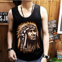 kaos singlet bahan combad T-Shirt Distro Pria indian L