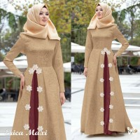 Gamis Maxi / Baju Dress / Busana Wanita Muslim Erica Baloteli Embos HQ