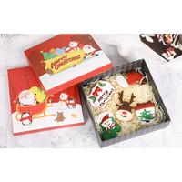 Box Hampers Natal 18 X18 CM Kotak Kado Bagu Santa Clause