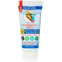 Badger Sport Natural Mineral Sunscreen Cream Clear Zinc SPF 35 87 ml