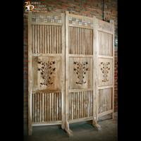 Sketsel Partisi Sekat Pembatas Ruangan Motif Rumpun Bambu Minimalis