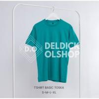 Kaos Polos Hijau Tosca Unisex Pria Wanita Bahan Combed 30's - KAOSPLS TOSCA, S