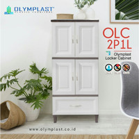 LEMARI PLASTIK DENGAN LACI OLYMPLAST OLC 2P1L MURAH !