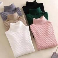 Sweater Turtle Neck Jumbo XXL - Atasan Wanita Rajut-Sweater Korea