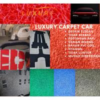 Karpet Mobil Mie Datsun GO+ Full bagasi 1 Warna PVC Coil