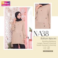 Baju Atasan Wanita ORI Nibras NA 38 Tunik Muslimah Rayon Premium
