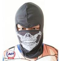 Masker Ninja Balaclava Full Face Motif Tengkorak