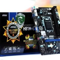 motherboard MSI H81M-E33 socket 1150