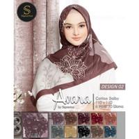 Jilbab Segi Empat Motif °Avara°. Motif 2. Cantik Nyaman dan Murah