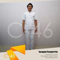 Baju Seragam Perawat Pria Lengan Pendek   Uk S M L XL