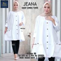 Tunik Putih Super Jumbo Baju Atasan Wanita JEANA