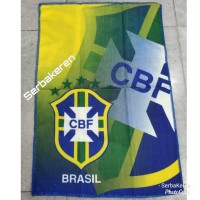 Handuk kecil Brasil Brazil muka saputangan fifa sepak bola import