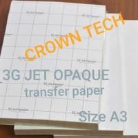 3G JET OPAQUE Transfer paper A3. kaos gelap terang