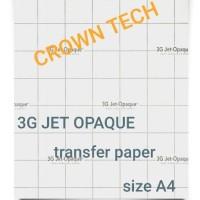 3G JET OPAQUE Transfer paper A4. kaos gelap terang