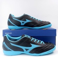 Sepatu Futsal Mizuno Monarcida Neo Select IN - Black/Blue Atoll