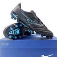 Sepatu Bola Mizuno Morelia Neo II MD - Black/Blue Atoll