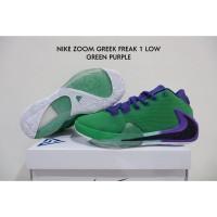 Sepatu Basket Nike Zoom Greek Freak 1 Low Green Purple