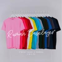 Kaos Polos Baju Oblong Warna Banyak Combed 30's Pria Wanita Unisex