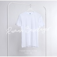 Kaos Polos Baju Oblong Putih Combed 30's Pria Wanita Unisex