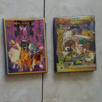 buku dan kartu animal kaiser, di dlm buku ada kartu2 animal kaisernya