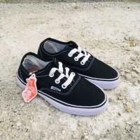 Sepatu anak Laki laki / Sepatu anak sekolah hitam SD vans kids