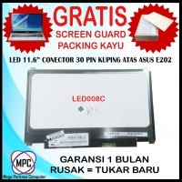 LCD LED Notebook Asus E202 11.6 Slim Conector 30 Pin Kuping Atas Bawah