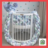 Termurah CELE Baby cot Bumper Weaving Bed Edge Protection Head