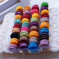 Baby Mini Macaroon Macaron Box isi 8pcs - Cookies - Kie Kering Murah