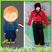 Baju Negara Belanda/Holland Kostum Anak laki laki - 2-3 tahun