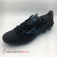 Sepatu Bola Mizuno Morelia Neo II MD Black Blue Atoll P1GA195325