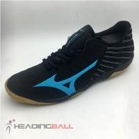 Sepatu Futsal Mizuno Original Rebula Sala Pro IN Black Blue Q1GA192125