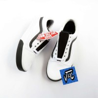 Sepatu Vans Old Skool Color Block True White Black Murah