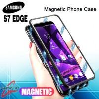 Samsung Galaxy S7 Edge Flip Luxury Magnetic Back Hard Case