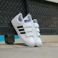 sepatu adidas neo advantage velcro white navy original indonesia bnwb