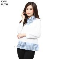 Baju Blouse Atasan Murah Wanita Kekinian 10715 - Putih, L