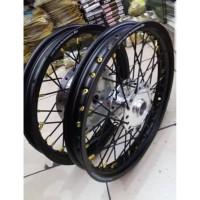 Velg Tdr Ring 14 Tromol Depan Belakang & Jari Jari Sepaket Motor Mio