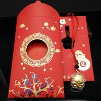 Angpao Ampau Gantungan Tikus Hoki Emas HK 24K 999