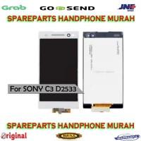 LCD FULLSET TOUCHSCREEN SONY XPERIA C3 D2533 D2502 ORIGINAL