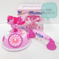 Mainan telepon little pony - telepon putar jaman dulu
