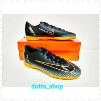 sepatu futsal nike mercurial CR7 new grade black gold