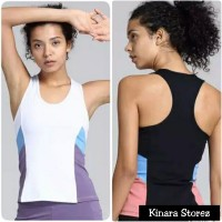 Tanktop sport kaos t-shirt olahraga senam gym fitness wanita