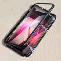 REALME X / OPPO K3 MAGNETIC CASE TEMPERED GLASS BACK METAL FRAME COVER