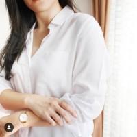 Kemeja Polos Putih PW 01/Kemeja Wanita/Kemeja Putih/Basic Shirt