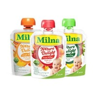 Milna Nature Delight fruit puree 80 gram sari buah makanan bayi