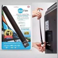 Antena TV Indoor Clear TV Key HD TV Plug and Play Slim Design Portable