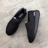 Sepatu Adidas ORIGINAL CloudFoam Slip On Full Black List White Men Wom