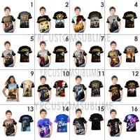 PREMIUM! Baju Kaos Anak PUBG Karakter FF Free Fire mOBILE LEGEND