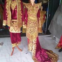 baju pengantin minang beludru